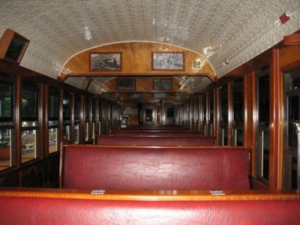 View inside a Kuranda carriage.